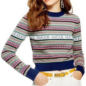 TOPSHOP Amour Fair Isle Sweater